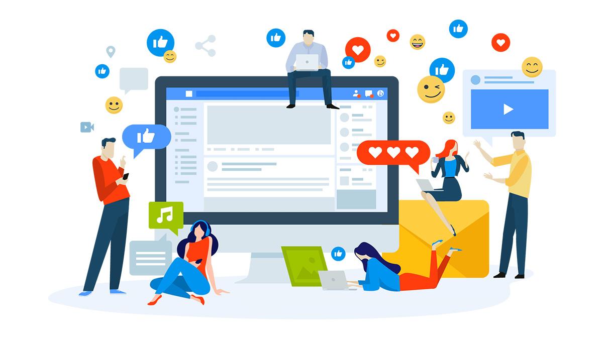 vector redes sociales
